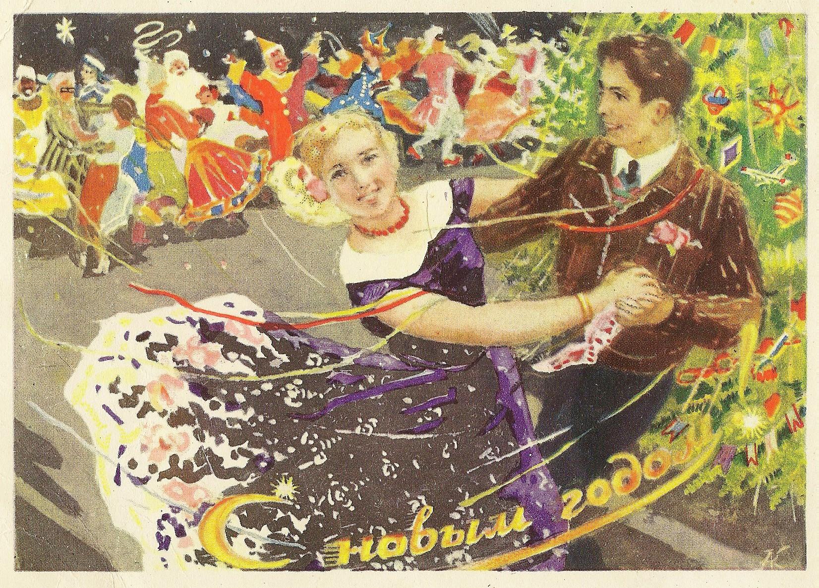 Новогодние советские открытки в картинках
