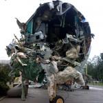 На ВДНХ снесли самолеты ТУ-154 и ЯК-42