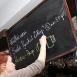 «Подвешенная» водка в кафе Артемия Лебедева