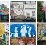 Легальные граффити на московских фасадах и сахарном заводе