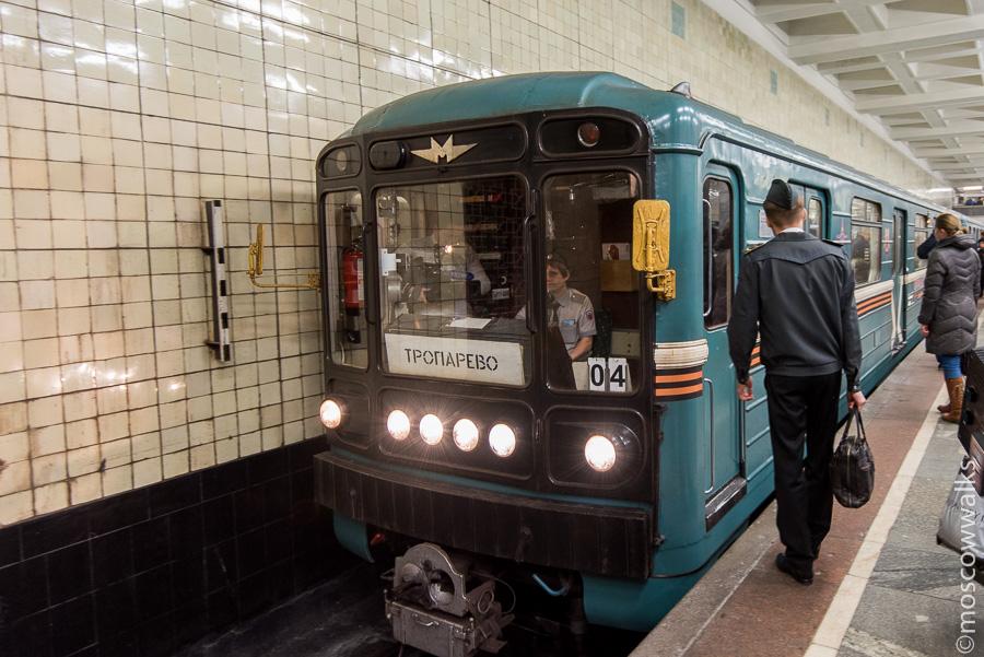 Поезд метро. Сокольники