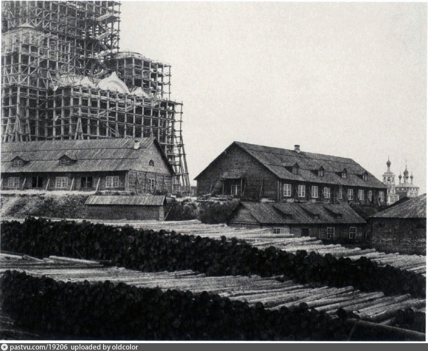 Строительство первого Храма Христа Спасителя