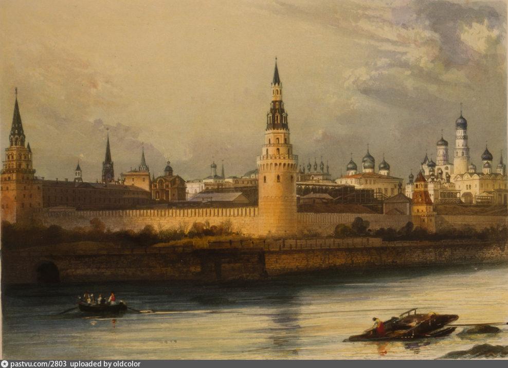 Самая старая фотография Кремля и Москвы