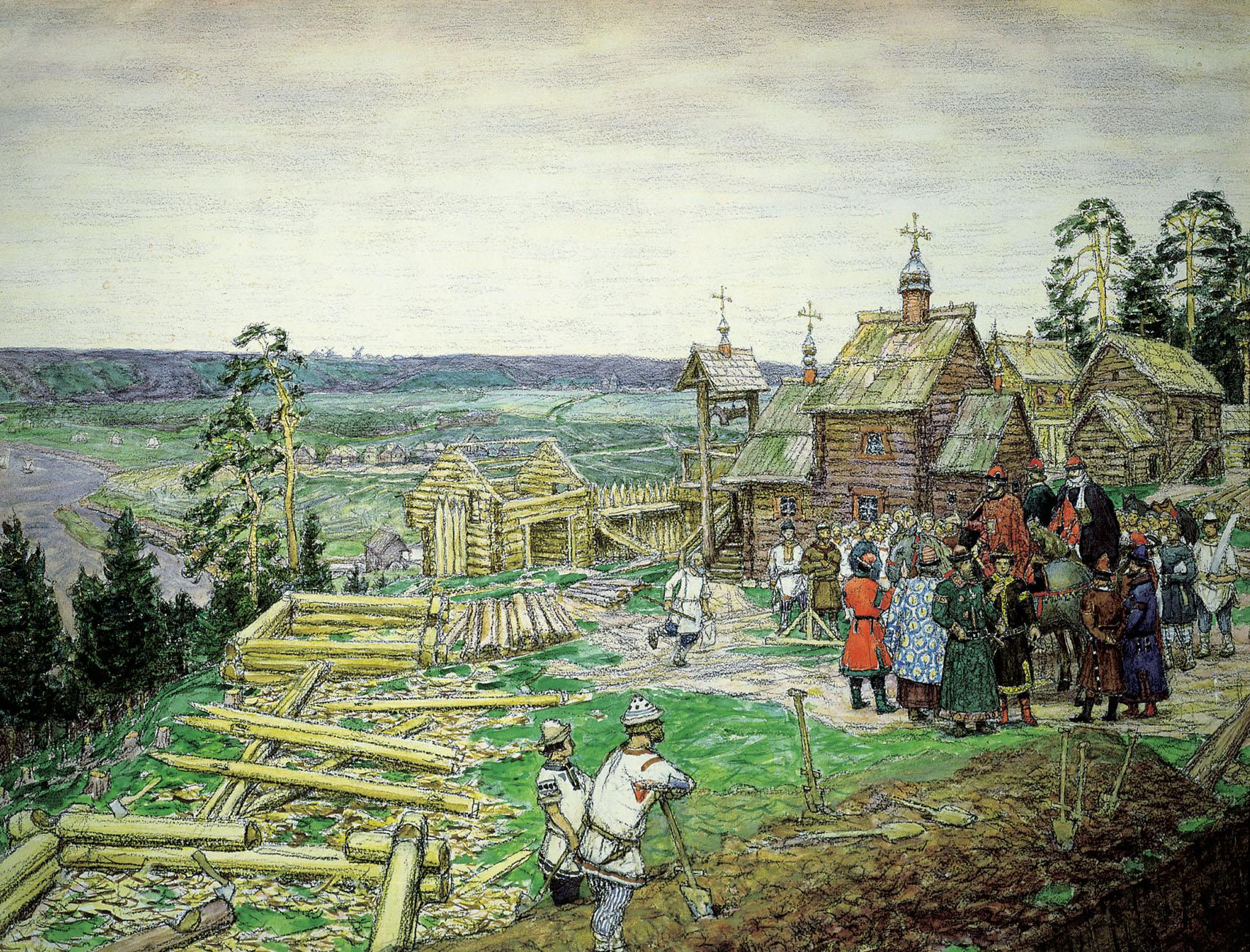 Основание Москвы. Васнецов