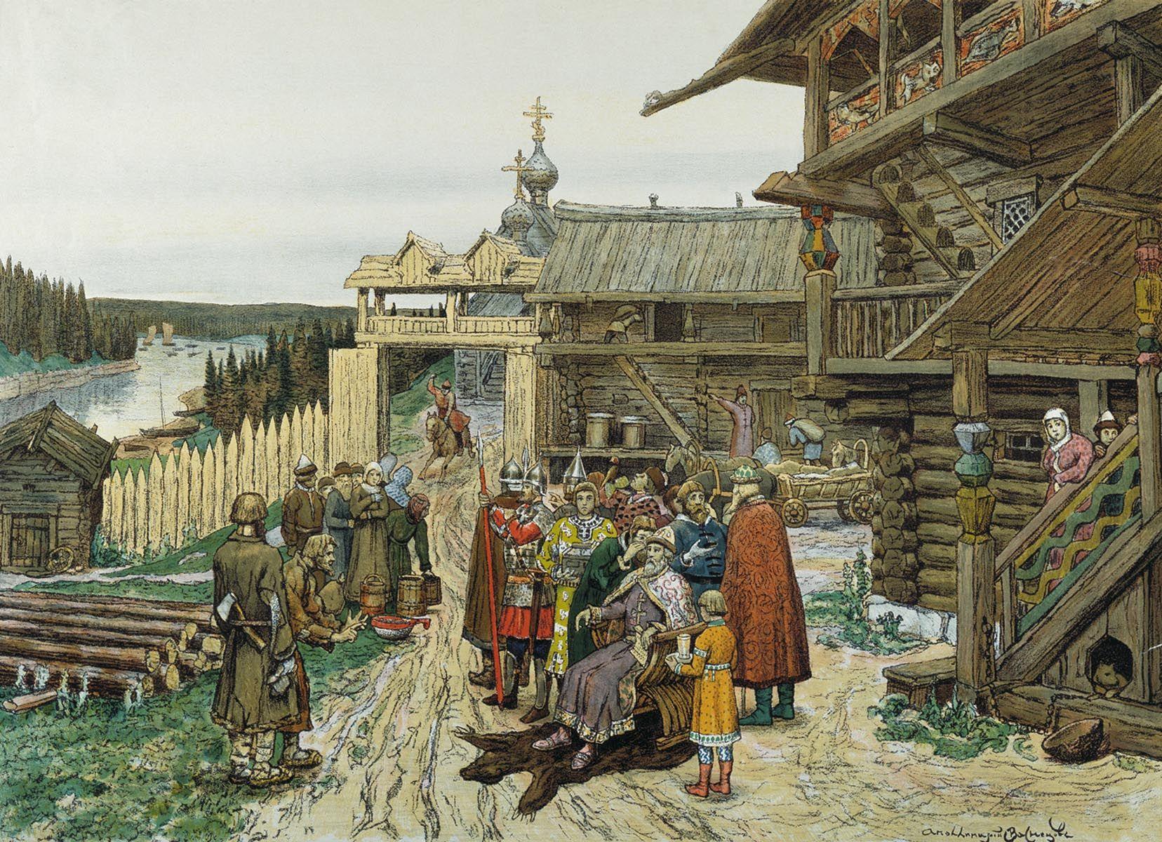 Васнецов. Двор Удельного князя