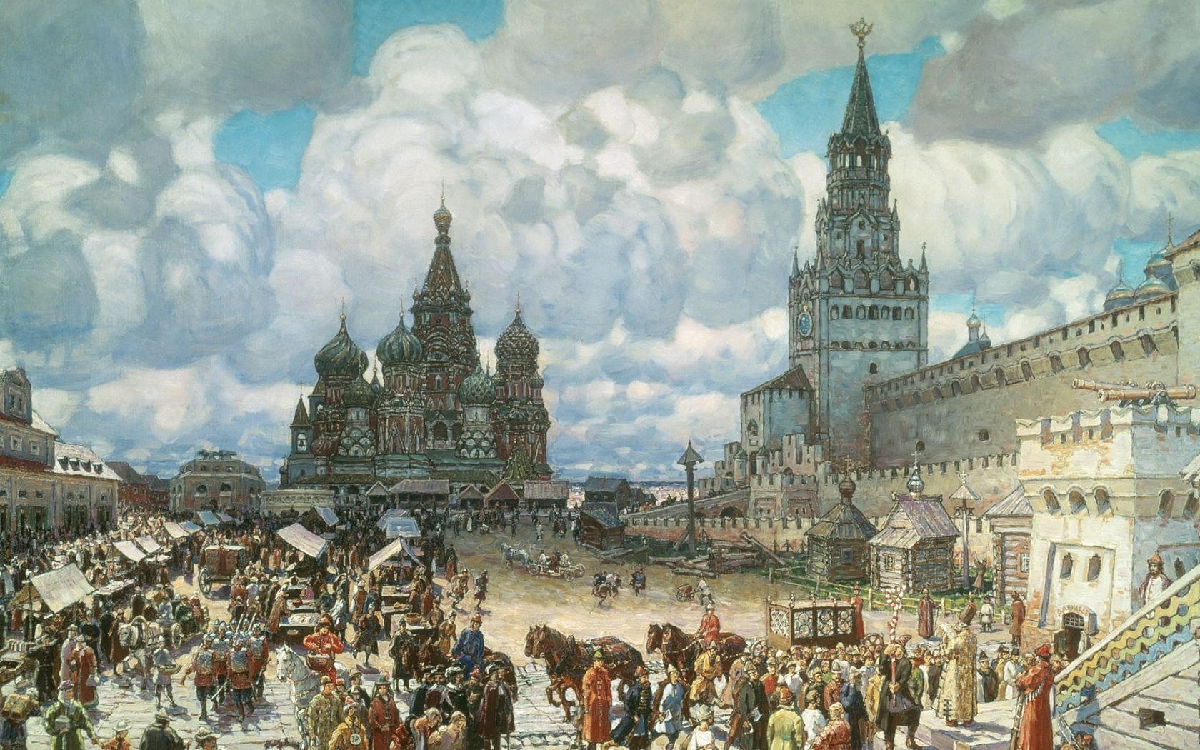 Красная площадь во второй половине 17 века