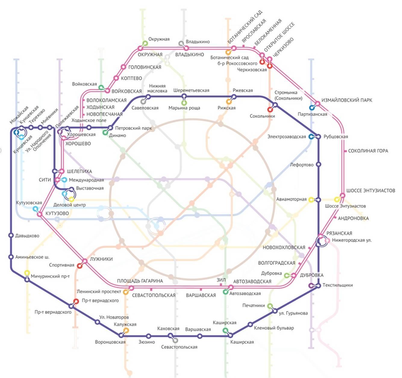 Схема четвертое транспортное кольца.