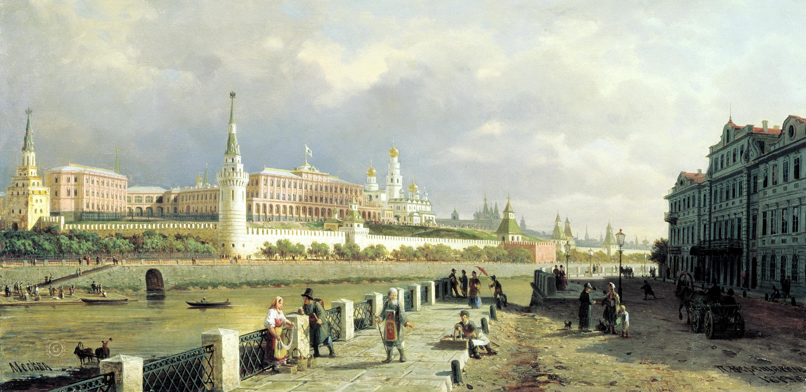 Петр Верещагин. Вид на Кремль