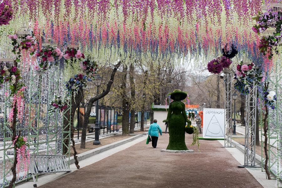 Цветы на тверской улице