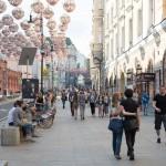 Автомобильная Петровка и пешеходная Большая Дмитровка