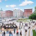 Новая пешеходная зона у Политехнического