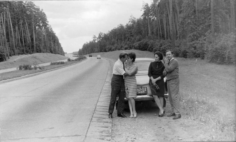 МКАД в сторону Рублёвского шоссе