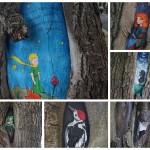 Двенадцать сказочных рисунков на московских деревьях