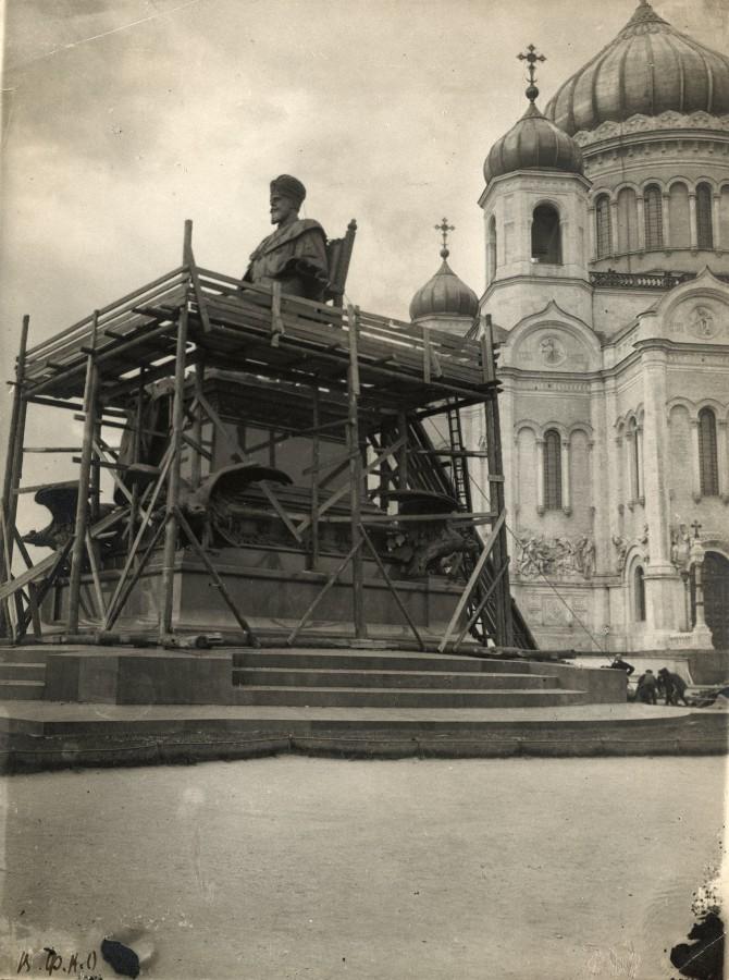 556947 Снос памятника Александру III