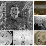 Уничтоженные изображения Сталина в московском метро