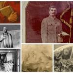 Уничтоженные изображения Сталина в московском метро (радиальные станции).